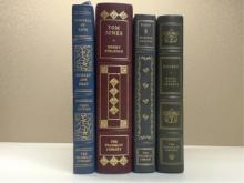 Franklin Library, Four Volumes:  EVIDENCE OF  LOVE, Shirley Ann Grou, First Edition,  Illustrated 1977; TOM JONES, Henry Fielding,  Illustrated 1978; SELECTED WRITINGS, Sir  Francis Bacon 1982; WALDEN, Henry David