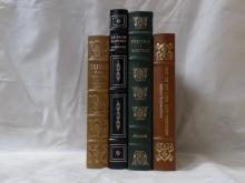 Easton Press, Four Volumes:  Jude the  Obscure, Thomas Hardy, (bookplate),  Illustrated, 1977; UP FROM SLAVERY, Booker T.  Washington, Illustrated, 1970; POLITICS AND  POETICS, Aristotle, Illustrated 1979; OUT OF