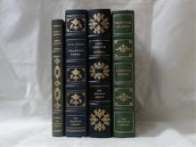 Franklin Library:  Four Volumes:  COLLECTED  POEMS, W. H. Auden, 1980; YOUNG LONIGAN,  James T. Farrell, Signed, Illustrated, 1979;  STORIES, John Cheever, Illustrated, 1980;  TRISTRAM SHANDY, Laurence Sterne,