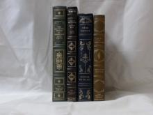 Franklin Library, Four Volumes:  THE  COLLECTED STORIES OF KATHERINE ANNE PORTER,  Illustrated, 1980; AROUND THE WORLD IN 80  DAYS, Jules Verne, Illustrated, 1983; PERE  GORIOT, Honore de Balzac, Illustrated, 19808;