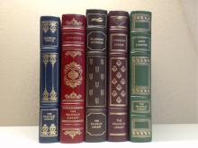 Franklin Library, Five Volumes:  IN THE MIDST  OF LIFE, Ambrose Bierce, Illustrated 1979;  STORIES, Sidonie Gabrielle Colette,  Illustrated 1977; THE COMPLETE STORIES,  Flannery O'Connor, Illustrated 1980; THE BEST