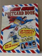SUPER HEROES POSTCARD BOOK, DC Super Heroes,  Mark IV Press, Ltd. under license from DC  Comics Inc., 1981.  Condition;  Fine.