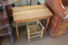 Oak Table & Childs Rocking Chair