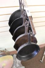 5 Cast Iron Skillets