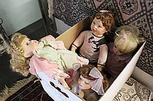 4pc Vintage Porcelain Dolls