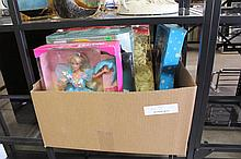 Box Lot of Collectable Barbie Dolls