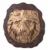 Mounted Metal Tin Leo Lion Head