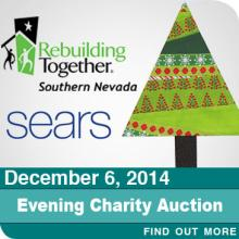 Special Charity Auction--Donated Items from Sears--To benefit Rebulding Together Southern Nevada