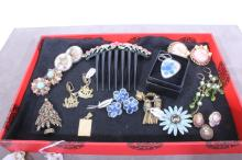 13 Lot: Antique and Vintage Jewelry Collection
