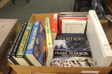 Box Lot of Collectable Military and Coin Books