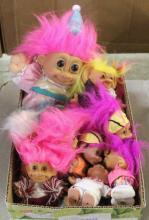 Lot of 12 Troll Dolls