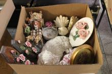 Box of Porcelain Figurines