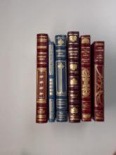 Franklin Library: Six Volumes:  Sinclair  Lewis 1981; Rubaiyat of Omar Khayyam 1979;  The Sound and The Fury 1976; Gulliver's  Travels 1981; Prisoner of Zenda 1984; Lost  Horizon 1981.