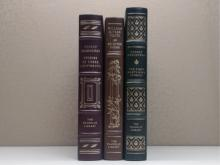 Franklin Library,Three Volumes:  THE FIRST  FORTY-NINE STORIES, Ernest Hemingway 1978;  STORIES OF THREE CONTINENTS, Ernest Hemingway  1979; SELECTED POEMS, William Butler Yeats  1979.