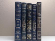 Franklin Library, Five Volumes:  TALES FROM  THE EAST AND THE WEST, W. Somerset Maugham  1979; THE REIVERS, William Faulkner 1979; THE  SOUND AND THE FURY, William Faulkner 1977;  ABSALOM, ABSALOM, William Faulkner 1978, TWO