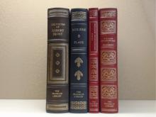 Franklin Library, Four Volumes:  THE POETRY  OF ROBERT FROST 1979; MOLIERE PLAYS 1980,  PLAYS, William Shakespeare 1980; HISTORIES,  William Shakespeare 1981.
