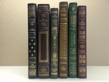 Franklin Library, Six Volumes:  FATHERS AND  SONS, Ivan Turgenev, Illustrated 1978; THE  EDUCATION OF HENRY ADAMS, Henry Adams 1982;  THE ALCESTIAD, Thornton Wilder, Illustrated  1977; SPOON RIVER ANTHOLOGY, Thornton Wilder,