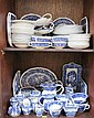 A Masons blue and white Vista pattern part tea and