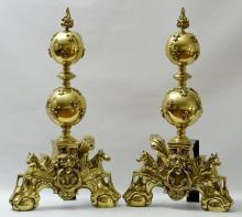 Renaissance Revival Figural Andirons