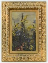 Victorian Floral Oil on Canvas