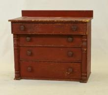 American Primitive Painted Chest of Drawers