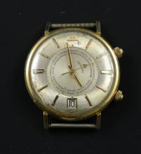 Men's LeCoultre 14K Memodate Wristwatch
