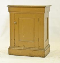 Mustard Paint one Door Cabinet