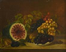 American Folk Art Still life of Fruit