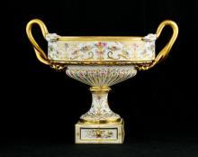 Dresden Porcelain Compote Centerpiece bowl