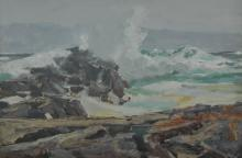 Jay Hall Connaway: Surf at Monhegan