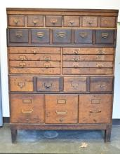 Shaw Walker Oak Stacking File Cabinet
