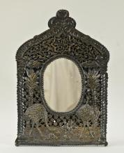 Persian Silver Mirror in Frame