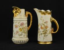 Pair of Royal Worchester Porcelain Pitchers