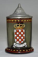 Miniature Enameld Glass Stein