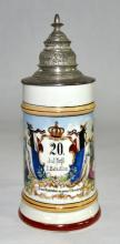 Porcelain Regimental Stein
