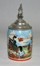 Porcelain Regimental Stein