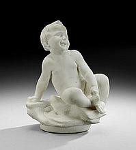 Italian Marble Figure of a Nude Baby Boy