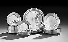 Fifty-Two American Sterling Silver Service Dishes