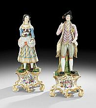 Pair of Jacob Petit-Style Paris Porcelain Figures