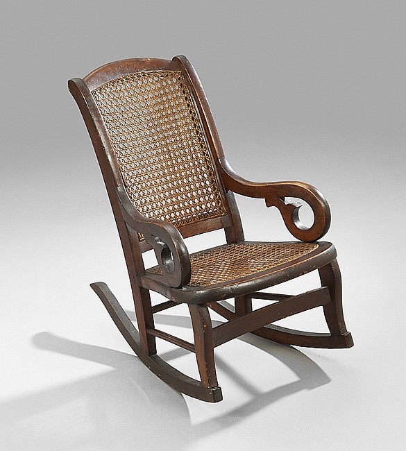American Walnut-Stained Child's Lincoln Rocker
