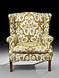 George III-Style Mahogany Wing Chair