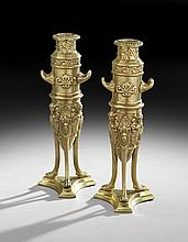 Pair of French Empire-Style Candlesticks