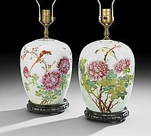 Two Chinese Porcelain Lidded Jars