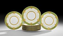 Set of Twelve Minton's Raised Gilt Service Plates