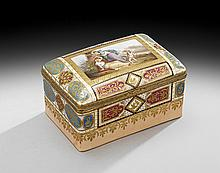 Handsome Berlin-Style Hand-Painted Porcelain Box