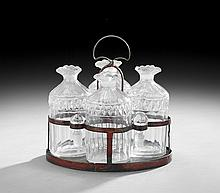 Rare Georgian Cut Glass Cruet Set