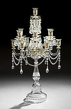 Regency-Style Anglo-Irish Cut Crystal Candelabrum
