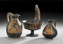 3 Reproduction Ancient Greek Terracotta Vessels