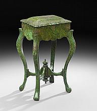 Victorian Faux Malachite Papier-Mache Work Table