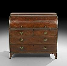George III Mahogany Roll-Top Desk